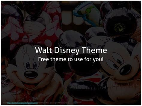 Disney Powerpoint Template Free Disney Powerpoint Template