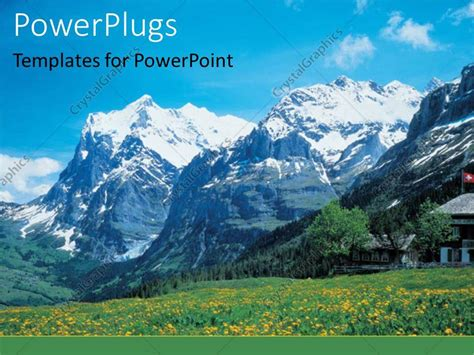 powerpoint templates free mountains powerpoint template a number of mountains in the