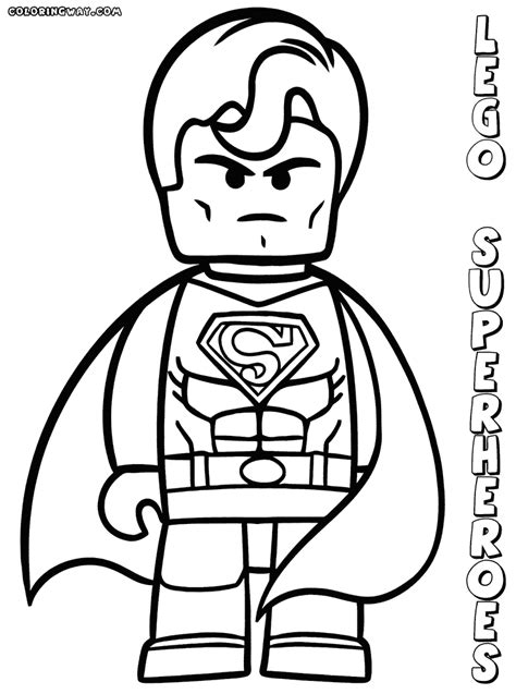 Lego Superheroes Coloring Pages Coloring Pages To Lego Colouring Pages For