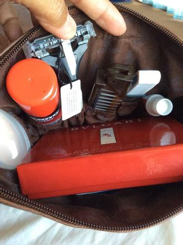 Tas Travel Kit Kosmetik Bvlgari From Emirates Bussiness Class other travel accessories bvlgari emirates business class mens flight wash bag was sold for