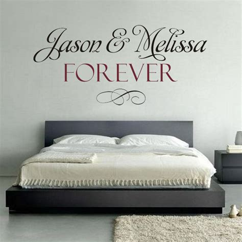 word for bedroom custom name wedding decoration wallpaper wall say quote word lettering bedroom vinyl sticker