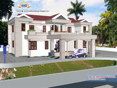 new home design 3d 5 beautiful home elevation designs in 3d kerala home