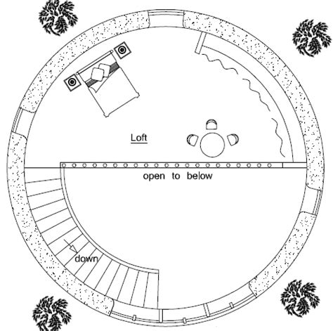 roundhouse floor plan 2 story earthbag roundhouse
