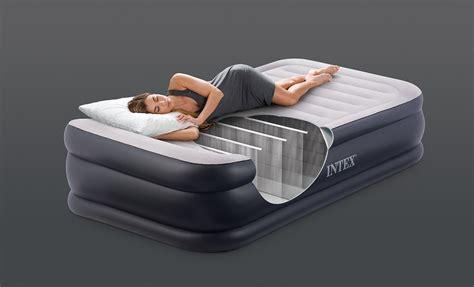 intex deluxe pillow rest fiber tech raised air bed mattress w 64431e ebay