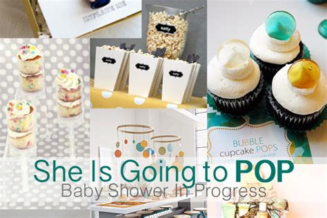 She S About To Pop Baby Shower by Teal And Lime By Jackie Hernandez