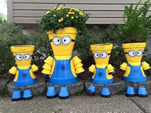 Fall Hay Decorations - minion clay pot people pictures photos and images for facebook pinterest and twitter