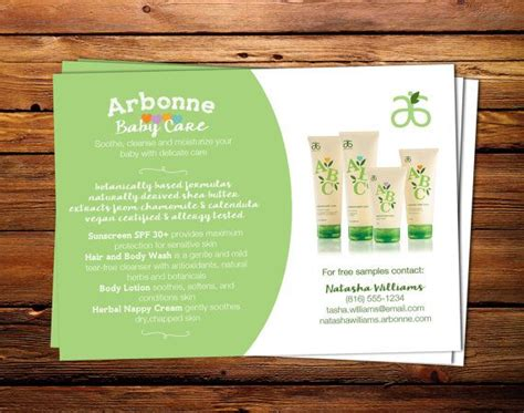 Arbonne Detox Meal Ideas by Arbonne Baby Care Flyer 5x7 Digital By Thegolightlyproject