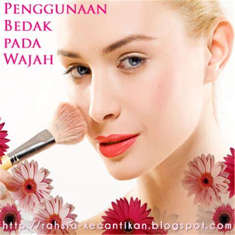 Powder Puff Bedak Tabur Bulat rahsia kecantikan wanita penggunaan bedak pada wajah