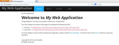 bootstrap themes yii framework yii framework with twitter bootstrap in netbeans