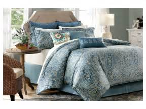 Peacock Blue Duvet Harbor House Belcourt 4 Piece Comforter Set Cal King