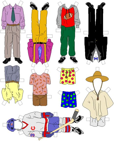How To Make Paper Dolls And Clothes - paper doll template for gt printables