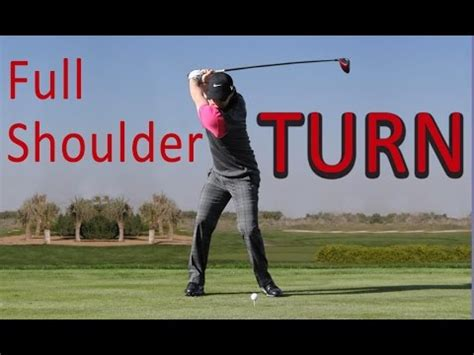 full shoulder turn golf swing golf backswing learning how to rotate funnycat tv