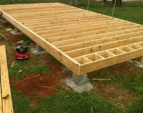 plans how to build wood joist floor for house barn shed