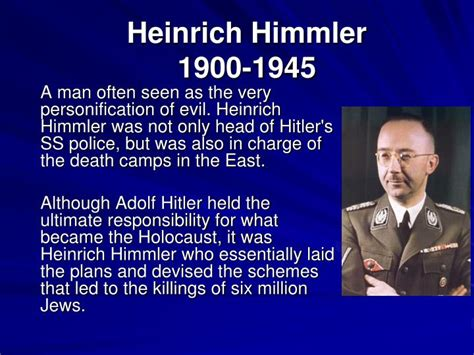 heinrich himmler the sinister of the of the ss and gestapo books ppt looking ahead 1 2 powerpoint presentation id 5377328