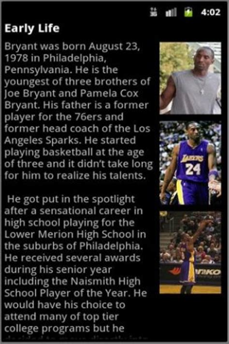 biography kobe bryant download biography kobe bryant for android appszoom