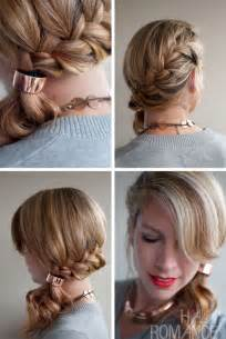 Side ponytail french braid hairstyle for long hair hairstyles weekly