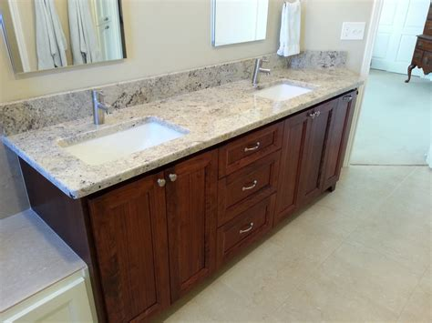 White Wood Bathroom Vanity Granite And Marble Depot Vanity Top Bathroom Honed White Above Wooden Edges