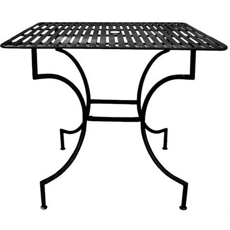 iron patio table  umbrella hole  shipping today