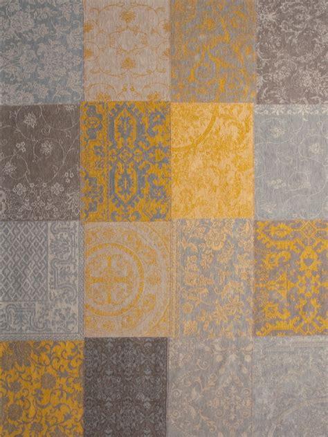 Karpet 2 X 2 Meter louis de poortere vintage kelim tapijt 8084 yellow bruin