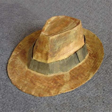 How To Make Paper Mache Hats - how to make a fedora indiana jones cases indiana