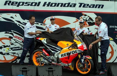 Jersey Motor Balap Repsol Honda 2016 repsol honda luncurkan motor marquez dan pedrosa autos id