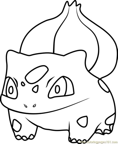 pokemon coloring pages bulbasaur pokemon bulbasaur color kaleidocycle template images