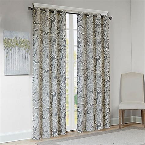 paisley curtains window treatments buy madison park ronan cotton paisley 84 inch window