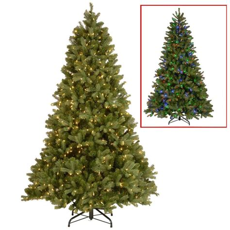home depot 9 foot douglas fir artificial treee national tree company 10 ft downswept douglas fir artificial tree with dual color led