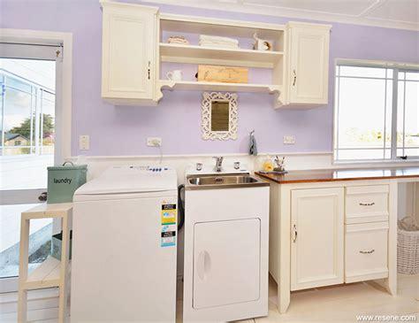laundry bench her bedroom painted using karen walker colours from resene