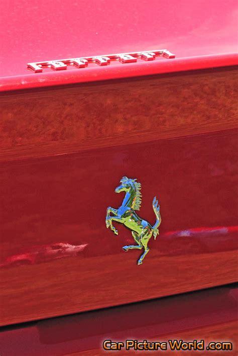 ferrari hood emblem red ferrari 550 trunk emblem picture