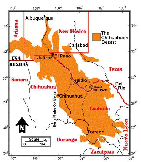 texas desert map the diverse chihuahuan desert