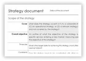 strategy statement template fouo statement template best template collection