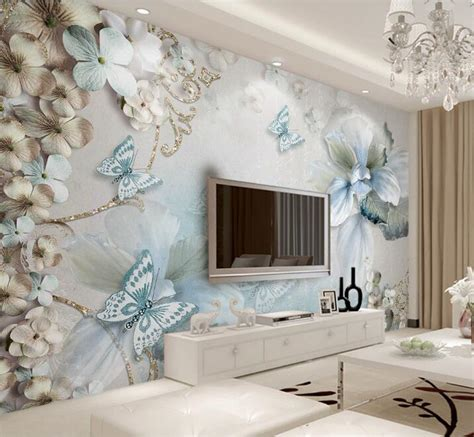 butterfly living room decor custom mural wallpaper for bedroom walls 3d beautiful flower butterfly background wall papers