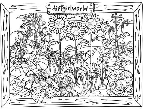 flower garden coloring pages amazing garden coloring pages