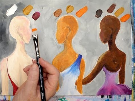 acrylic paint on skin learn how to mix 3 skin colors in acrylic paint this