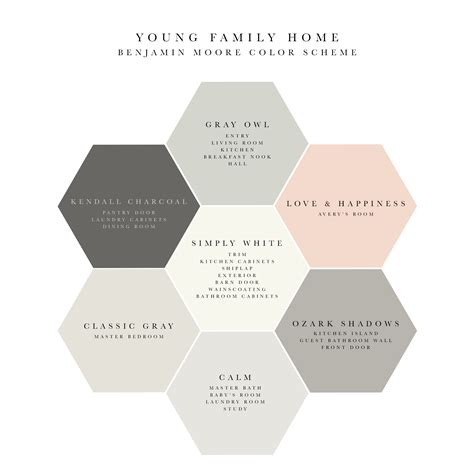 color schemes for house soothing and benjamin whole house color