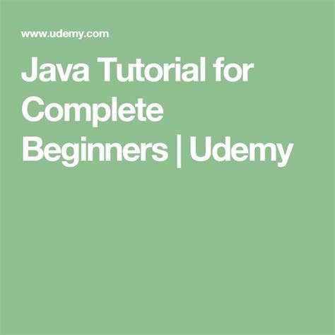 tutorial of c for beginners java tutorial for complete beginners udemy autos post
