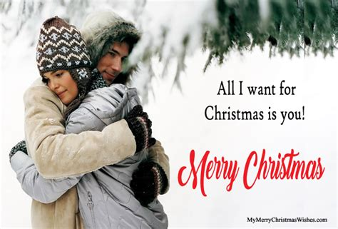 cute romantic merry christmas wishes  husband wife