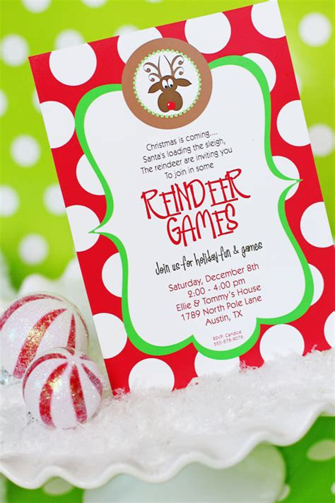 printable reindeer games free reindeer games invitation printable christmas party