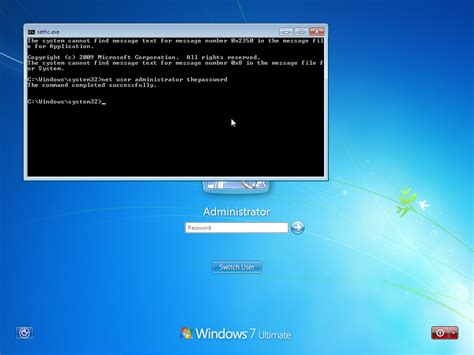 software reset admin password windows 7 how to change any administrator password in windows 7