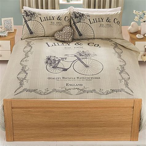 bicycle bedding george home vintage bicycle duvet set bedding asda direct