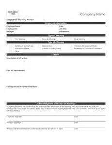 Employee Write Up Template by Employee Write Up Template 3 Legalforms Org