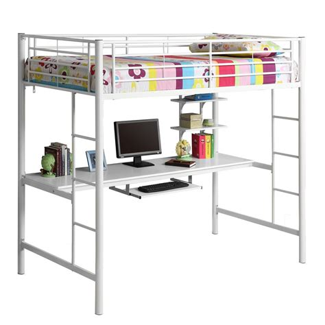 Twin Loft Bed With Desk Bunk Bed With Computer Desk