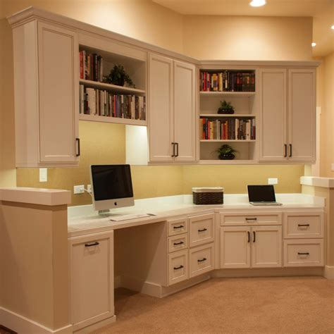 Using Kitchen Cabinets For Home Office by Perguero Home Office Cabinets Cabinets By Trivonna