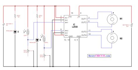 Line Follower Sensor Circuit Diagram