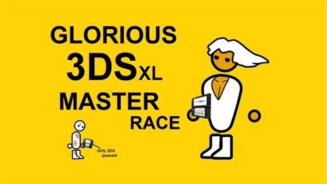 Pc Master Race Meme - glorious 3ds xl master race the glorious pc gaming
