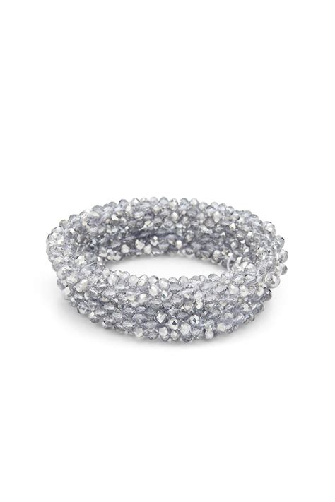 Silver Stretch Bracelets by RJ Graziano for $29   Rent the Runway