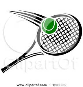 Clipart Of A Tennis Ball And Racket  Royalty Free Vector Illustration sketch template