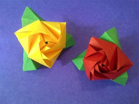 Origami Flower Cube - origami maniacs origami cube