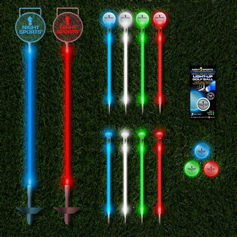 backyard golf set backyard night golf set 3 led balls 24 led markers night sports touch of modern
